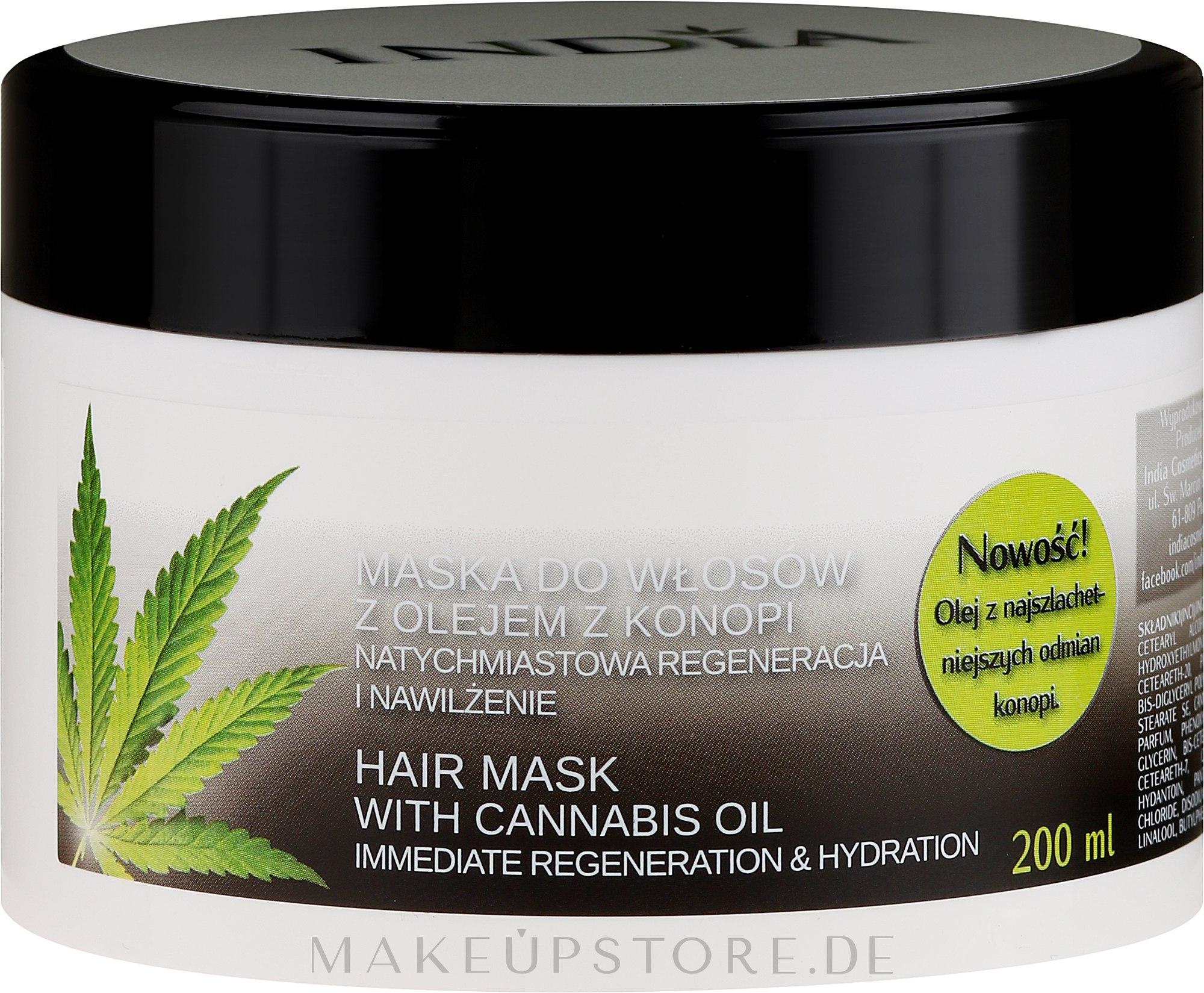 Regenerierende und feuchtigkeitsspendende Haarmaske mit Cannabisöl - India — Bild 200 ml