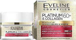 Düfte, Parfümerie und Kosmetik Regenerierendes Creme-Konzentrat für Gesicht gegen Pigmentflecken 60+ - Eveline Platinum & Collagen