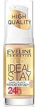 Düfte, Parfümerie und Kosmetik Feuchtigkeitsspendende und langanhaltende Foundation LSF 10 - Eveline Cosmetics All Day Ideal Stay