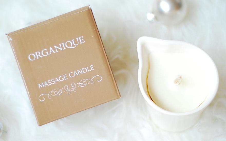 Massagekerze in dekorativem weißen Keramiktiegel Bambus - Organique Spa Massage Candle Bamboo (ohne Griff) — Bild N4