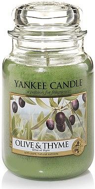 Duftkerze im Glas Olive & Thyme - Yankee Candle Olive & Thyme Jar — Bild N1