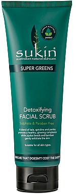 Detox Gesichtspeeling mit Jojobaöl und Bambusextrakt - Sukin Super Greens Detoxifying Facial Scrub — Bild N1