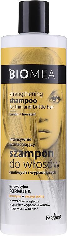 Intensiv stärkendes Shampoo für sprödes und zu Haarausfall neigendes Haar - Farmona Biomea Strengthening Shampoo — Bild N1