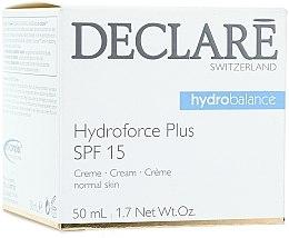 Düfte, Parfümerie und Kosmetik Feuchtigkeitsspendende Anti-Aging Gesichtscreme mit Liposomen SPF 15 - Declare Hydroforce Plus SPF 15 Cream