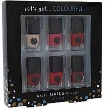 Düfte, Parfümerie und Kosmetik 6 in 1 Set Nagellack 5 ml - Cosmetic 2K Lets Get Colourful!