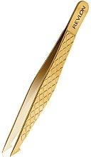 Düfte, Parfümerie und Kosmetik Pinzette - Revlon Gold Series Titanium Coated Slant/Point Tweezer