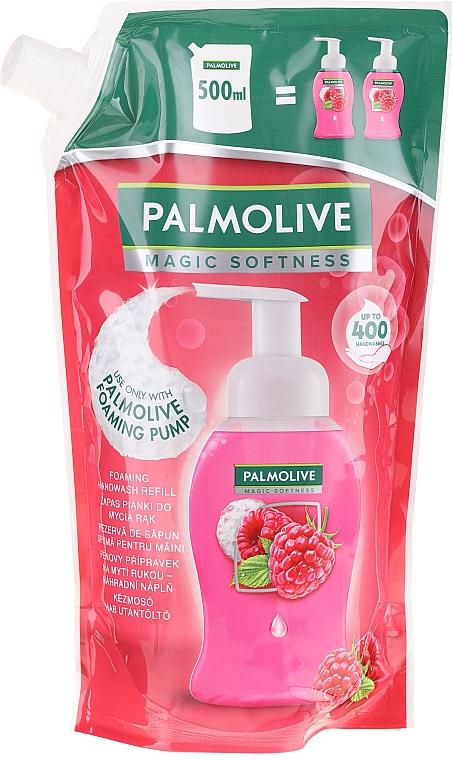 Schäumende Flüssigseife mit Himbeerduft - Palmolive Magic Softness Raspberry Foaming Handwash (Doypack)