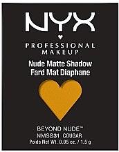 Düfte, Parfümerie und Kosmetik Mono-Lidschatten - NYX Professional Matte Shadow Beyond Nude
