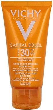 Sonnenschutzemulsion für das Gesicht SPF 30 - Vichy Capital Soleil SPF 30 Emulsion Mattifying Face Fluid Dry Touch — Bild N2