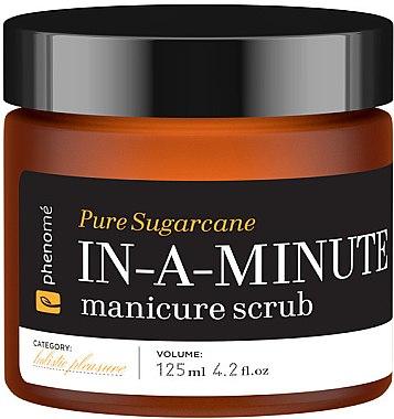 Handpeeling mit Mandel- und Macadamiaöl - Phenome Pure Sugarcane In-A-Minute Manicure Scrub — Bild N1
