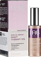 Düfte, Parfümerie und Kosmetik Verjüngendes Anti-Aging Nachtserum mit Ultrafiller und FastLift-Complex - Lirene Lab Therapy Radical Repair Night Therapy Serum 10%