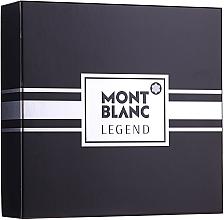 Düfte, Parfümerie und Kosmetik Montblanc Legend - Duftset (Eau de Toilette/100ml+After Shave Balsam/balm/100ml+Eau de Toilette/Mini/7.5ml)
