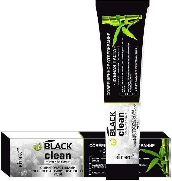 Aufhellende Zahnpasta mit schwarzer Aktivkohle - Vitex Black Clean