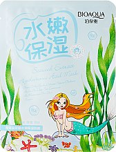 Düfte, Parfümerie und Kosmetik Feuchtigkeitsspendende verjüngende Tuchmaske mit Algenextrakt und Hyaluronsäure - BioAqua Seaweed Extract Hyaluronic Acid Mask
