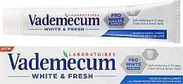 Düfte, Parfümerie und Kosmetik Aufhellende Zahnpasta White & Fresh - Vademecum White & Fresh Toothpaste