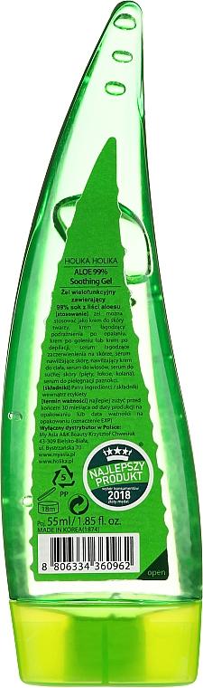 Beruhigendes Feuchtigkeitsgel für Gesicht, Haar und Körper mit 99% Aloe Vera - Holika Holika Aloe 99% Soothing Gel — Bild N2