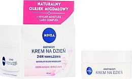 Düfte, Parfümerie und Kosmetik Pflegende Tagescreme für trockene und empfindliche Haut - Nivea Moisturizing Day Cream Nourishing For Dry And Sensitive Skin