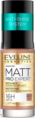 Mattierende und langanhaltende Foundation LSF 10 - Eveline Cosmetics Matt Pro Expert — Bild N1