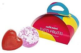 Düfte, Parfümerie und Kosmetik Geschenkset Seife und Badebombe - Cafe Mimi Tutti Frutti (Seife 80g + Badebombe 120g)