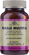 Nahrungsergänzungsmittel Vitamin- und Mineralkomplex für Frauen - Solgar Female Multiple — Bild N5