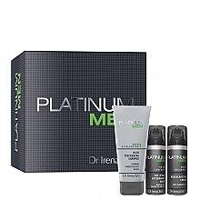 Düfte, Parfümerie und Kosmetik Körperpflegeset - Dr. Irena Eris Platinum Men (After Shave Balsam 50ml + Creme 50ml + Shampoo 125ml)