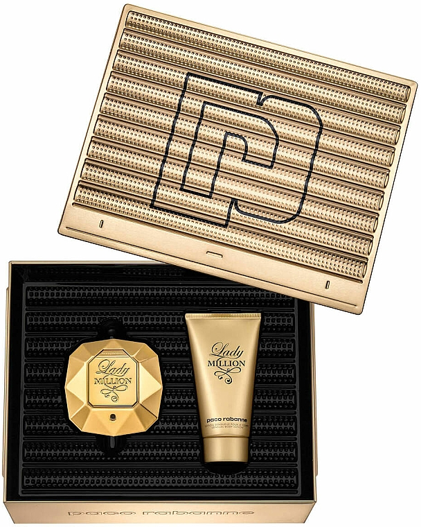 Paco Rabanne Lady Million - Duftset (Eau de Parfum 50ml + Körperlotion 75ml)