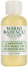 Düfte, Parfümerie und Kosmetik Feuchtigkeitsspendendes Augen-Make-up Entferner-Öl mit Sesamöl für trockene, empfindliche und Mischhaut - Mario Badescu Carnation Eye Make-Up Remover Oil