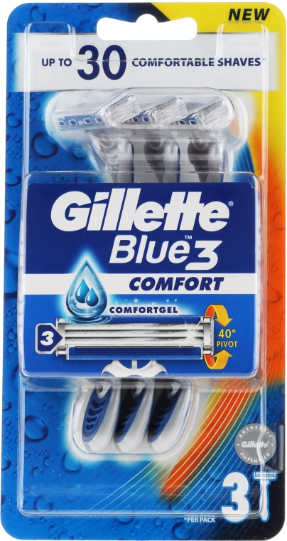 Rasierklingen 3 St. - Gillette Blue 3 Comfort