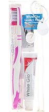 Düfte, Parfümerie und Kosmetik Zahnpflegeset - White Glo Travel Pack (Zahnpasta 24g + Rosa Zahnbürste 1 St. + Zahnstocher 8 St.)
