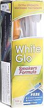 Düfte, Parfümerie und Kosmetik Zahnpflege-Set - White Glo Smokers Formula (Zahnpasta 100ml + Zahnbürste blau + Interdentalzahnstocher)