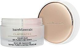 Düfte, Parfümerie und Kosmetik Doppel-Gesichtsreinigungsmaske mit weißer Grapefruit, Johannisbeer- und Birnenextrakt - Bare Escentuals Bare Minerals Claymates Be Pure & Be Dewy Mask Duo
