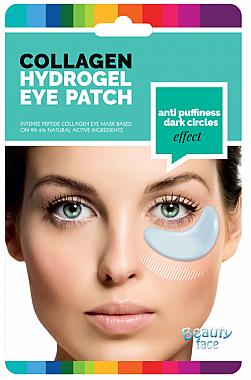 Kollagenmaske für die Haut unter den Augen gegen dunkle Ringe und Schwellungen - Beauty Face Collagen Hydrogel Eye Mask — Bild N1