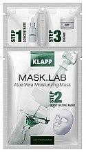 Düfte, Parfümerie und Kosmetik Feuchtigkeitsspendende Gesichtsmaske mit Aloe Vera - Klapp Mask Lab Aloe Vera Moisturizing Mask