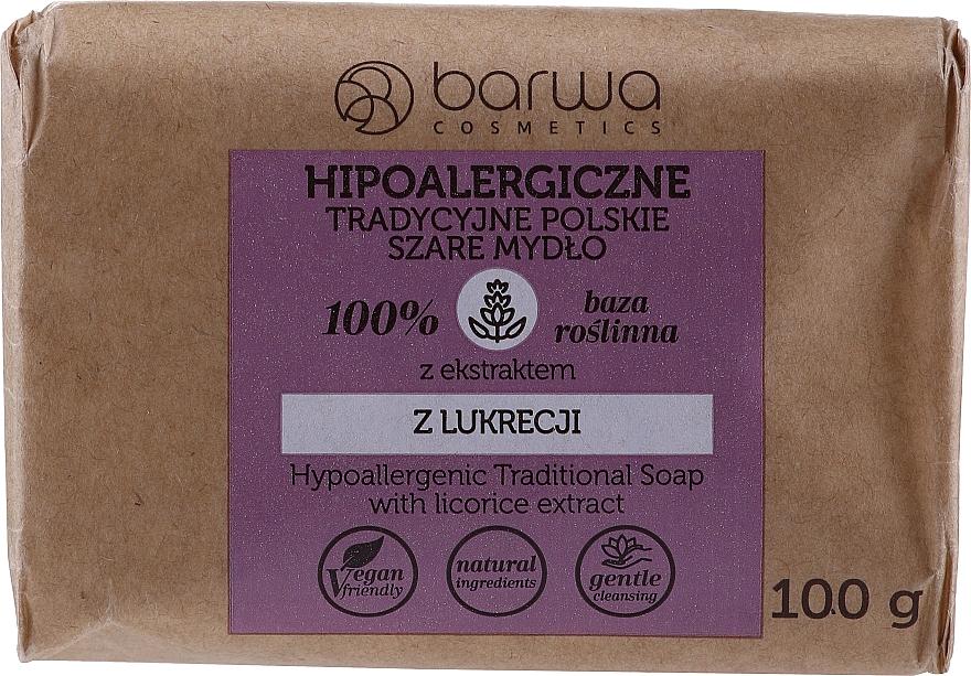 Traditionelle graue Seife mit Lakritzextrakt - Barwa Hypoallergenic Traditional Soap With Licorice Extract