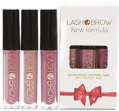 Düfte, Parfümerie und Kosmetik Lipgloss-Set (Lipgloss/3x3ml) - Lash Brow Mini Lip Gloss Set Nude