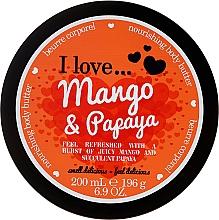 Düfte, Parfümerie und Kosmetik Pflegende Körperbutter Mango & Papaya - I Love... Mango & Papaya Nourishing Body Butter