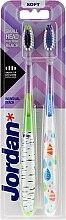 Düfte, Parfümerie und Kosmetik Zahnbürste weich Individual Reach grün, blau 2 St. - Jordan Individual Reach Soft