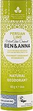 Düfte, Parfümerie und Kosmetik Natürlicher Soda Deostick Persian Lime - Ben & Anna Natural Soda Deodorant Paper Tube Persian Lime
