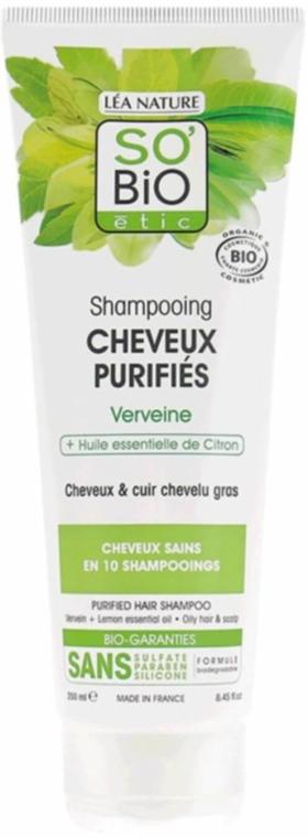Shampoo mit Eisenkraut und Zitrone - So'Bio Etic Shampoo with Verbena & Lemon Oil — Bild N1