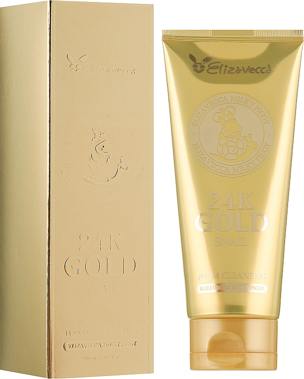Gesichtsreinigungsschaum mit Schneckenschleim und 24K Gold - Elizavecca Face Care 24k gold snail Cleansing Foam — Bild N1