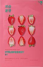 Düfte, Parfümerie und Kosmetik Erfrischende, beruhigende und aufhellende Tuchmaske mit Erdbeerextrakt - Holika Holika Pure Essence Mask Strawberry