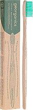 Düfte, Parfümerie und Kosmetik Bambuszahnbürste mittel - Georganics Bamboo Medium Toothbrush Green