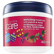 Düfte, Parfümerie und Kosmetik Reichhaltige und feuchtigkeitsspendende Creme für Gesicht, Hände und Körper mit Honig und Yoghurt - Avon Care Enriching Moisture Cream