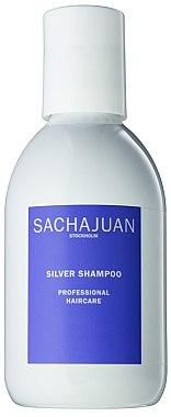 Anti-Gelb Shampoo für blondes, blondiertes oder graues Haar - Sachajuan Stockholm Silver Shampoo — Bild N1