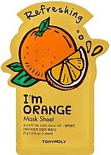 Düfte, Parfümerie und Kosmetik Erfrischende Tuchmaske für das Gesicht mit Orangenextrakt - Tony Moly I Am Orange Mask Sheet