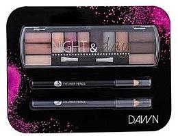 Düfte, Parfümerie und Kosmetik Augenset (Lidschatten 8,16g + Kajalstift 2x0,6g) - Cosmetic 2K Night & Day Dawn