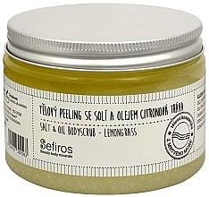 Düfte, Parfümerie und Kosmetik Körperpeeling mit Meersalz und Öl Zitronengras - Sefiros Lemongrass Body Scrub