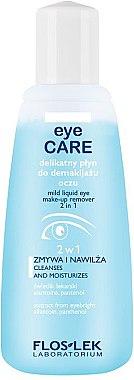 2in1 Feuchtigkeitsspendender Augen-Make-up Entferner - Floslek Eye Care Mild Liquid Eye Make-Up Remover 2 in 1 — Bild N1
