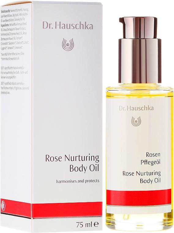 Pflegendes Rosenöl für den Körper - Dr. Hauschka Rose Nurturing Body Oil — Bild N1