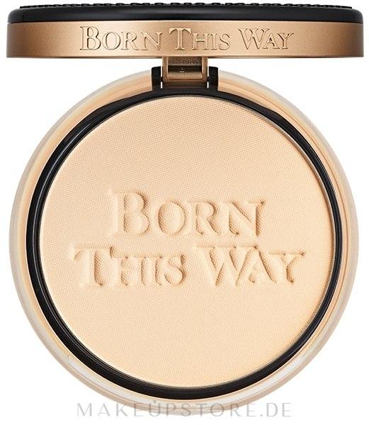 Kompaktpuder für das Gesicht - Too Faced Born This Way Powder — Bild Snow